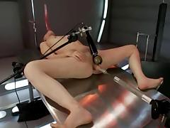 Трахается с секс машинами и только